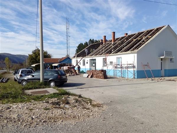 Radovi na krovu MZ Župa